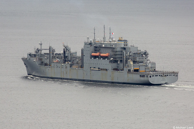 Military Sealift Command (MSC) Lewis and Clarke-class ship USNS William McLean, T-AKE-12; Firth of Clyde, Scotland
