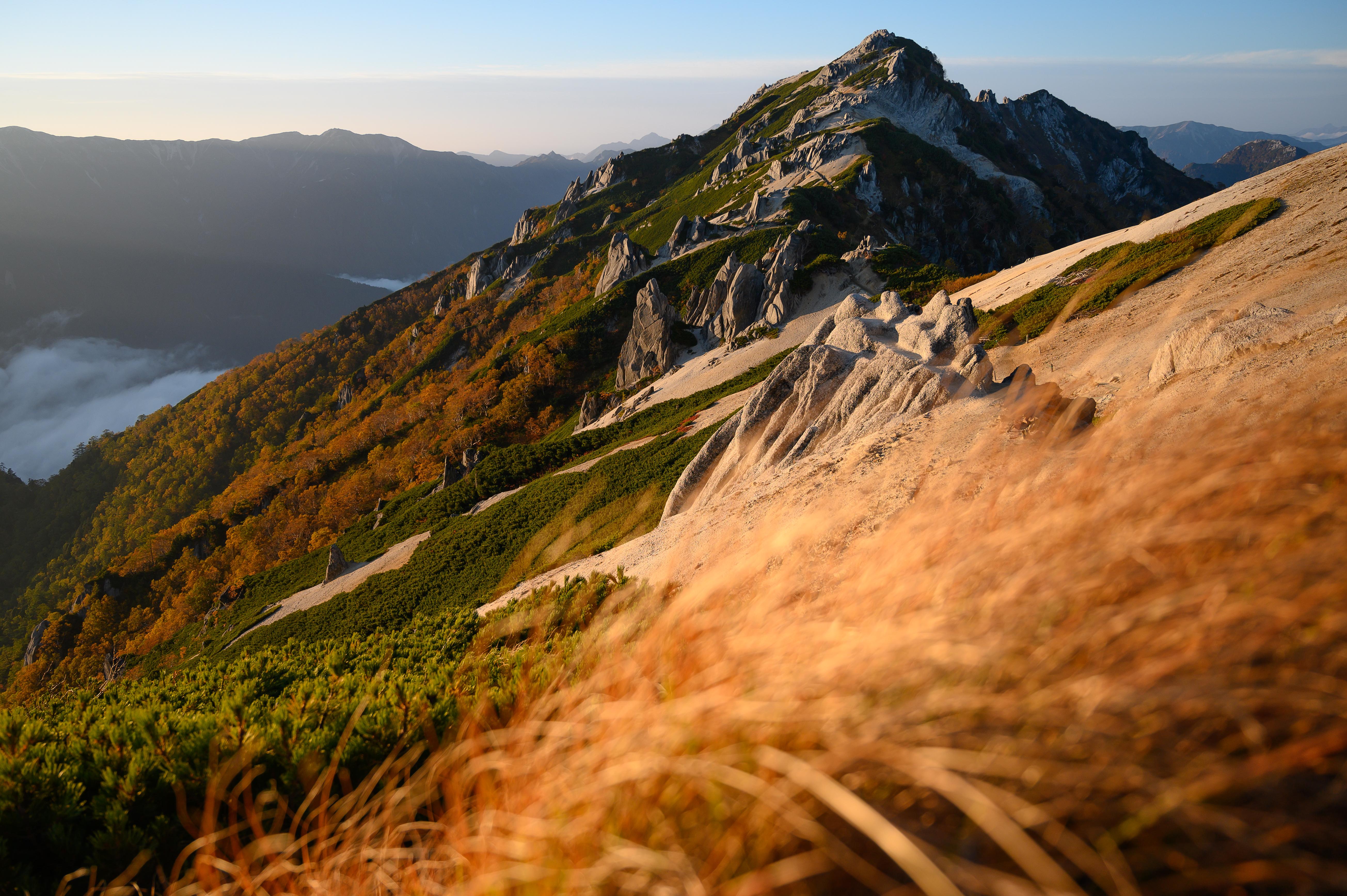 燕岳の夕景