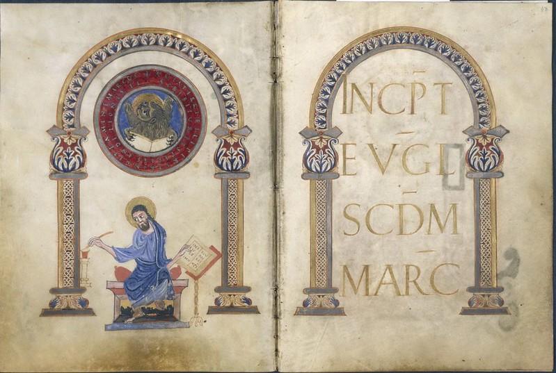 19 Евангелист Марк Евангелие из Сент-Аман-ан-Пюизе  Франция, IX в