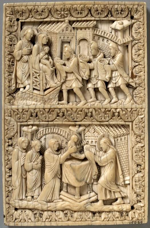 41 Поклонение Волхвов Сретение Господне Франция. Лотарингия. г. Мец IX в