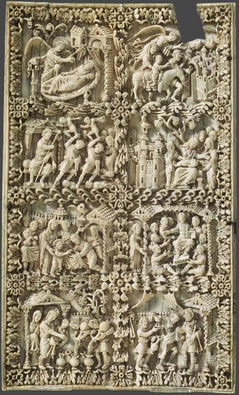 39 Семь сцен из жизни Христа. Эпоха Каролингов. Кельн, 850 г  Лондон. Музей Виктории и Альберта