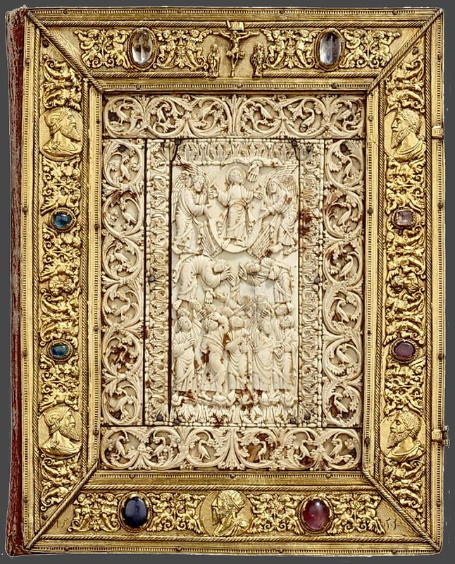 38 Вставка в Евангелиарий из Аббатства в Гандерсхайм. 826-850г.  Нижняя Саксония
