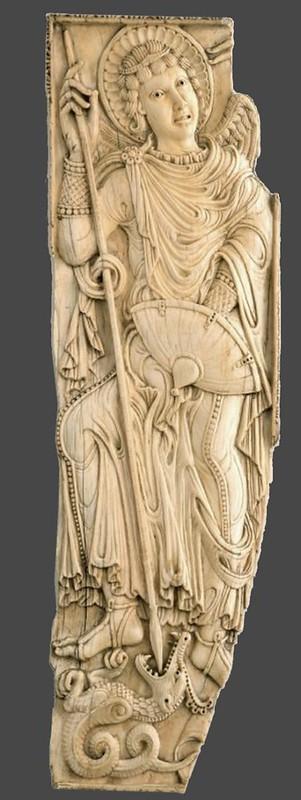 36 Архангел Михаил. Фрагмент реликвария,  Германия,VIII