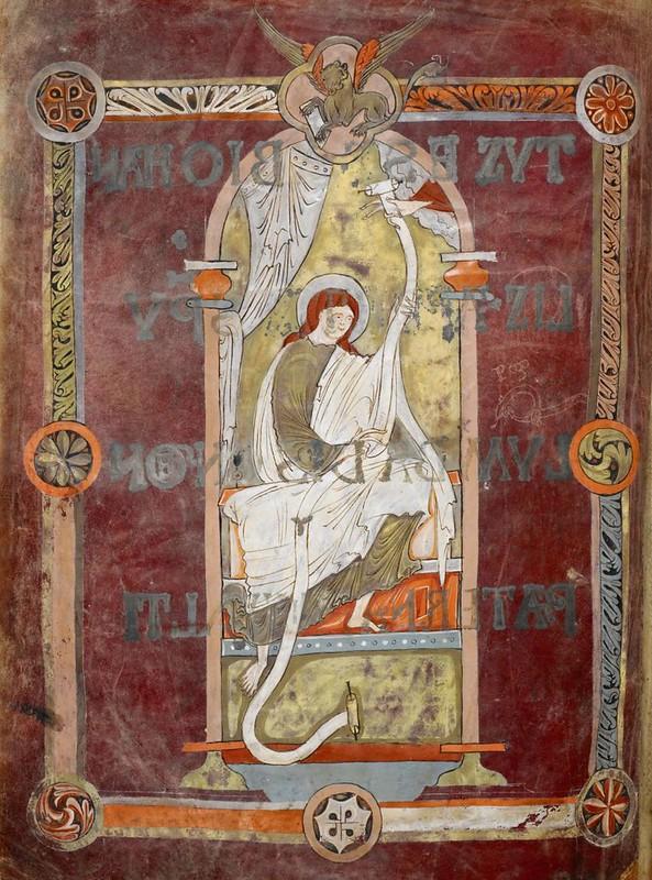 70 Марк Евангелист  Англия. Кентенбери. Аббатство св. Августина  X в