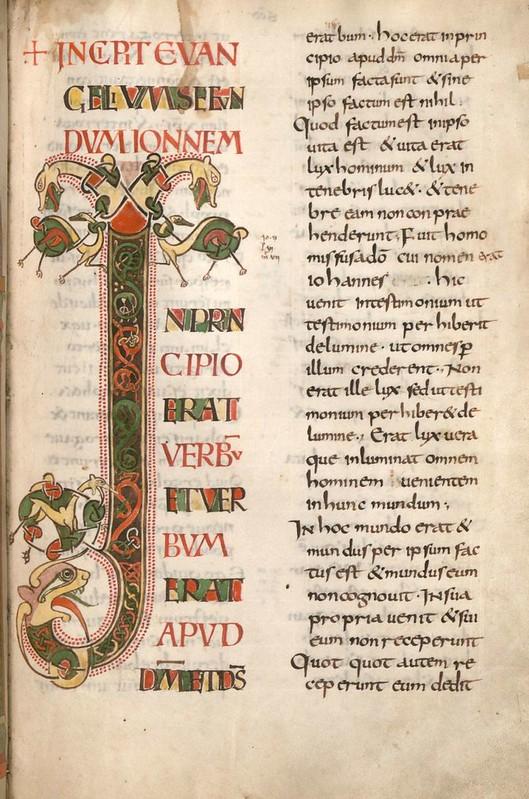 55 Инициал J Германия. Майнц IX в.  Евангелиарий  Мюнхен