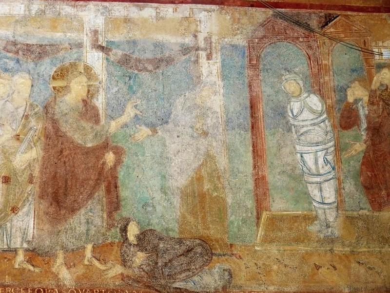 59 Воскрешение Лазаря. Фреска ок. 1000 г. в ц-ви св.Георгия в м-ре Райхенау