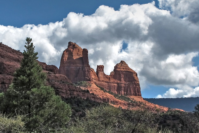 Red Peaks and Puffy Clouds-Shnebly Hill Road-Sedona Arizona 0036