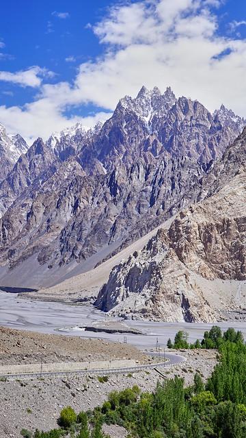 The Majestic Passu Cones, Passu, Pakistan.