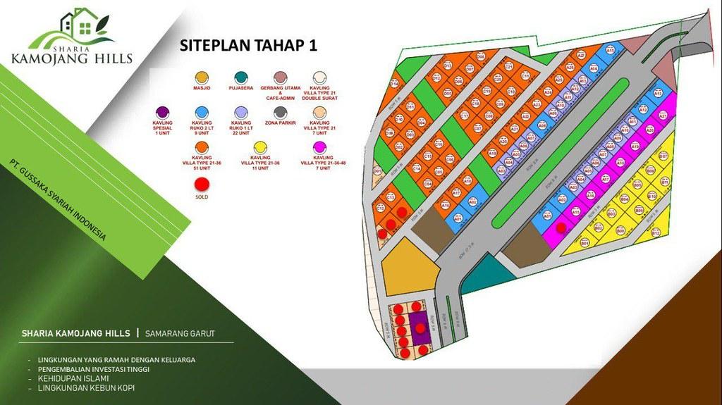 Siteplan Tahap 1 Sharia Kamojang Hills