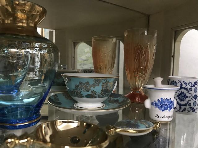 crystals, ceramics, display