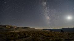 Sand Dunes, Milky Way & Moon