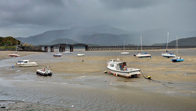 Wet weather in the Mawddach Estuary, Wales