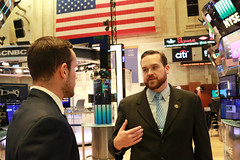 Rep. Davis meet with officials from the Federal Reserve Bank of New York and New York Stock Exchange to learn more about their functions and discuss the impacts of these institutions on the fiscal health and economy of the State of Connecticut.