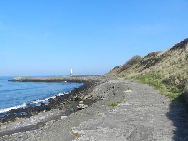 Old road, Aberdeen Harbour, Aberdeen, April 2019