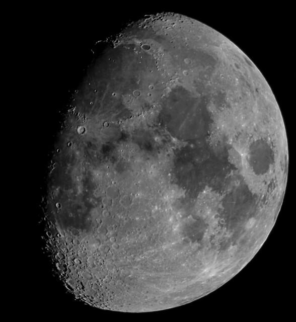 79% Waxing Gibbous Moon 9-pane Mosaic 08/10/19