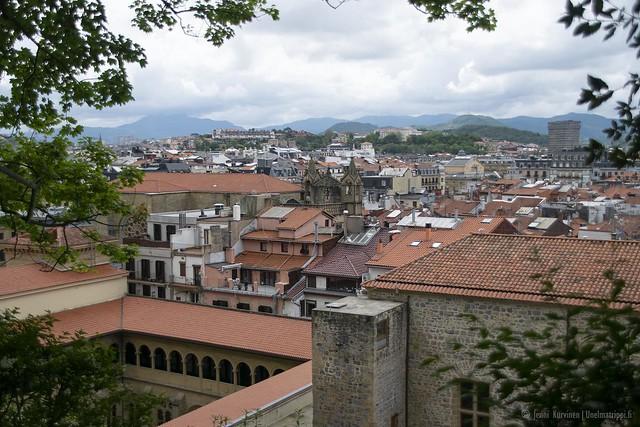 San Sebastián Monte Urgullilel johtavalta kävelypolulta nähtynä