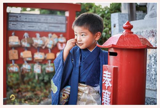 神前神社(県社)で七五三 愛知県半田市  3歳の男の子