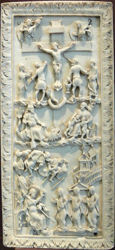 32 Распятие Христово. Явление ангела женам-мироносицам. Эпоха каролингов Франция IX в.