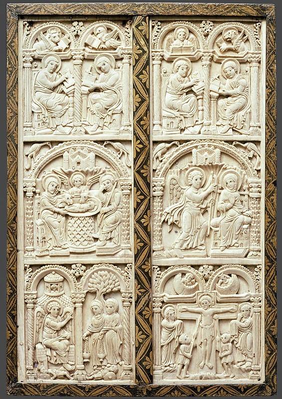 29 Диптих. 810 г. Аахен. Мастерские дворца Карла Великого