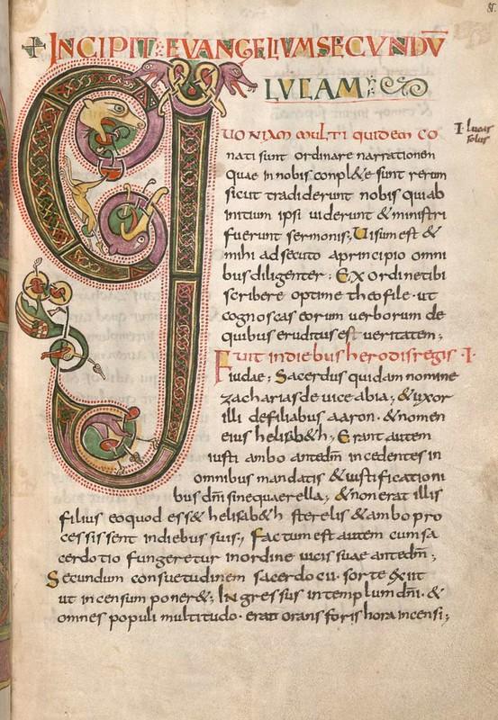 54 Инициал G Германия. Майнц IX в. Евангелиарий Мюнхен