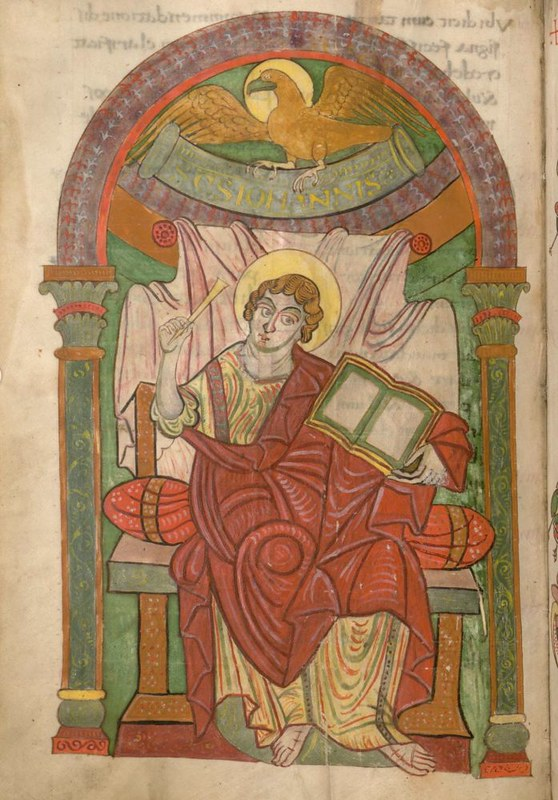 53 Евангелист Иоанн Богослов, Германия. Майнц IX в. Евангелиарий Мюнхен