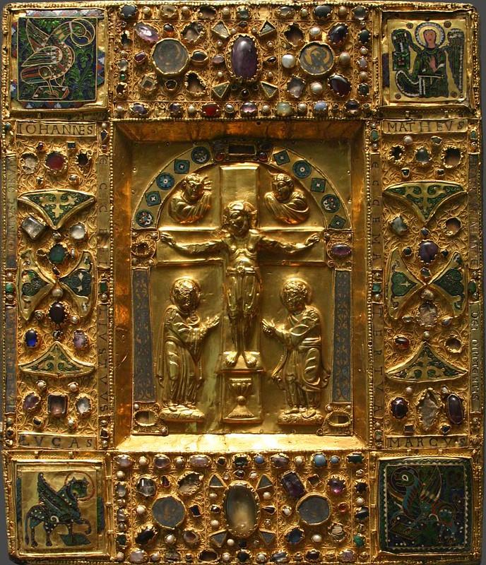 75 Оклад Евангелия оттоновской эпохи. Германия. Трир. XI в.  Париж. Лувр