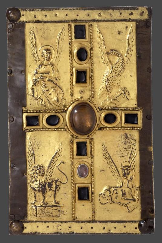 69 Крест с символами евангелистов. Оклад книги. Германия; X в. Лондон