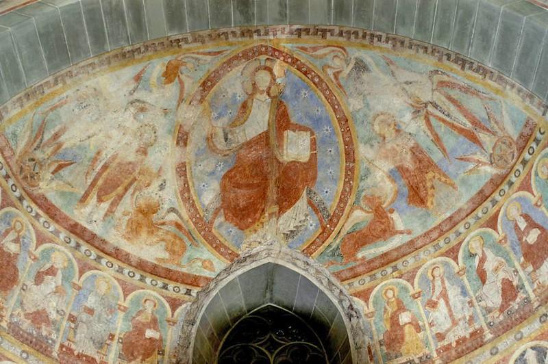 58 Спас в силах. Фреска ок.1000 г.  Церковь Петра и Павла в м-ре Райхенау