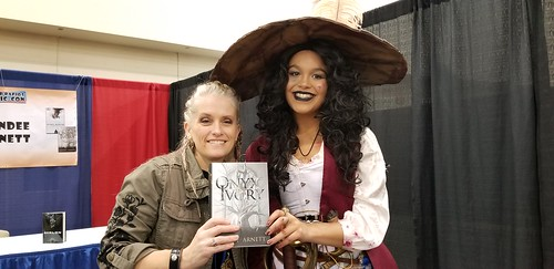 Author Mindee Arnett and cosplayer Lillie Forteau as Captain Hook. From Write This: Author Mindee Arnett on Writing, Road Maps, and Character Development