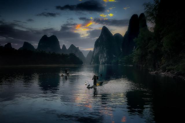 Xing Ping before sunrise