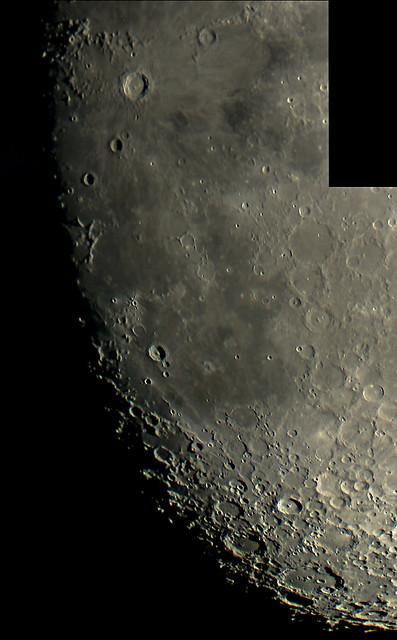 Lunar Terminator From Copernicus to Clavius 6 Pane Mosaic 08/10/19