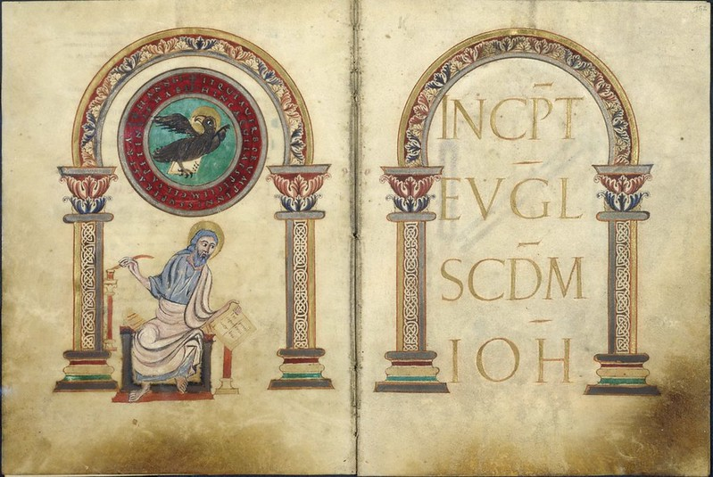 19а Иоанн Богослов Евангелие  Франция. Сент-Аман-ан-Пюизе  IX в.