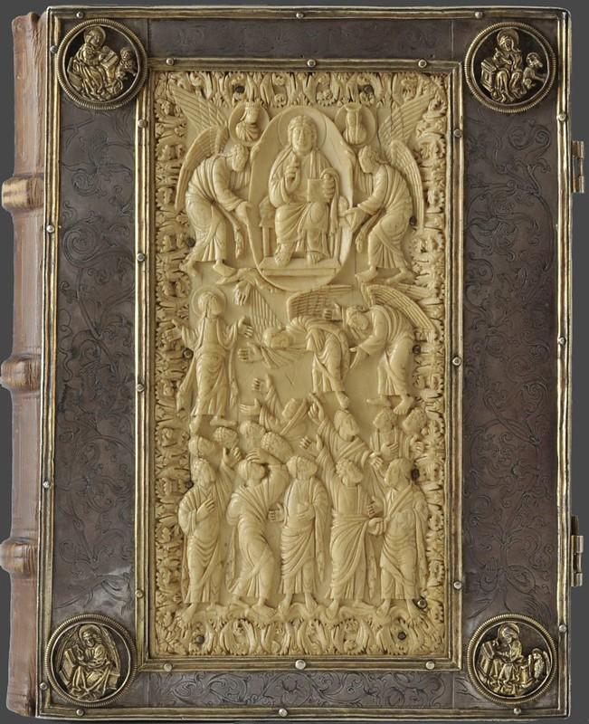 35 Вознесение Господне (вставка в оклад книги). Германия, IX в