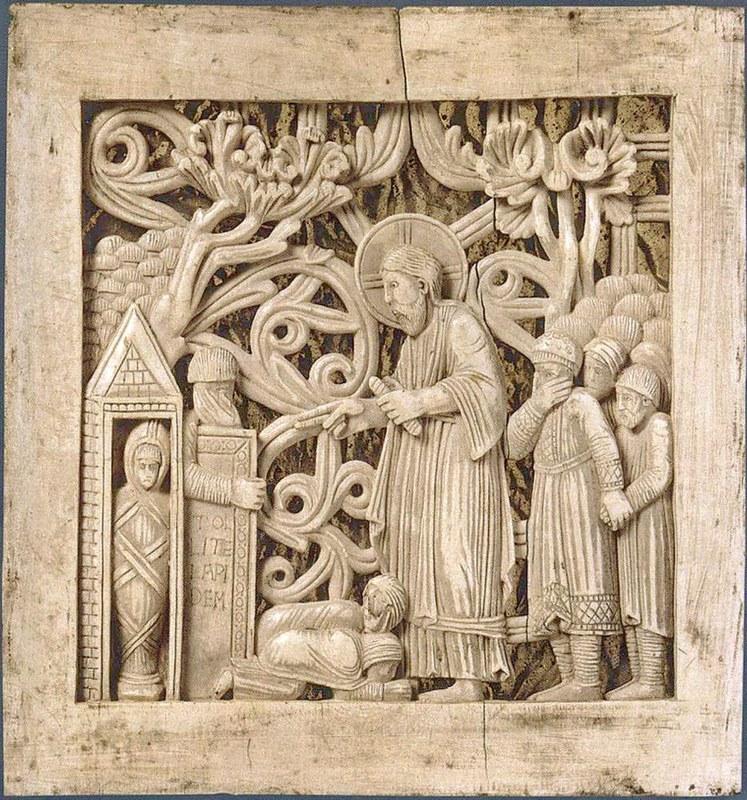67 Воскрешение Лазаря. Магдебургские пластины; Италия. Милан
