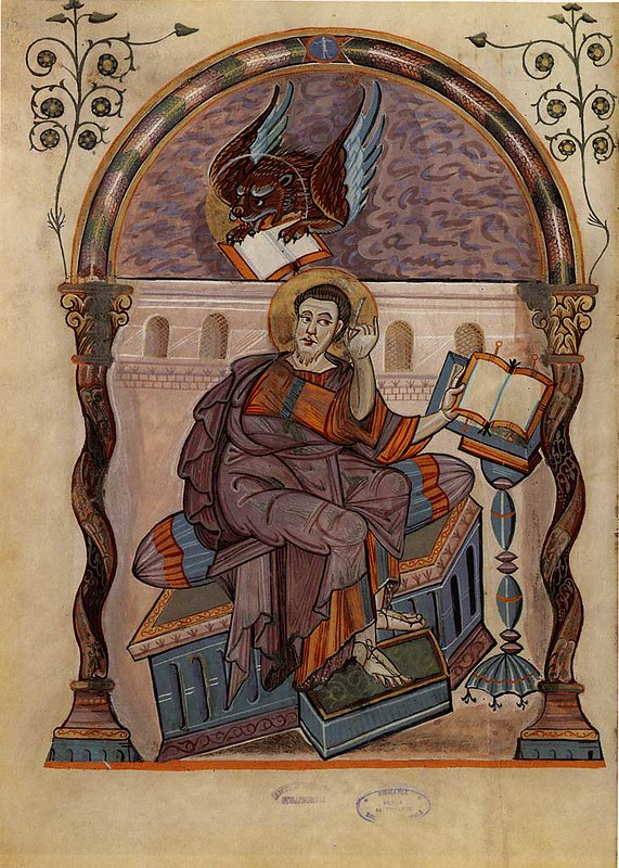 52 Ев. Марк. 778–820 Миниатюра из Лоршского Евангелия.