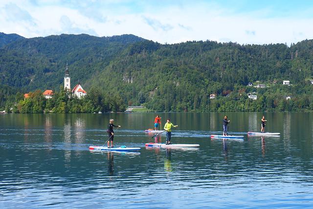 SUP, Lake Bled, Slovenia