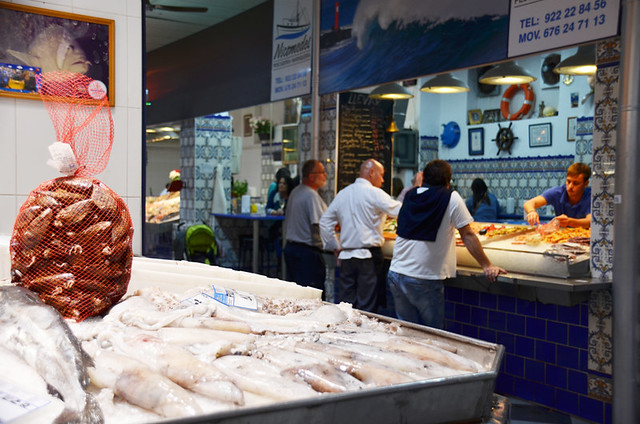 Fish stalls in Recova Market