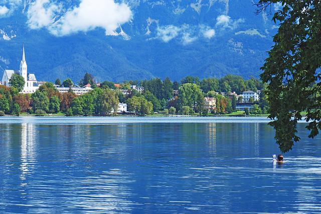 Swimmer, Lake Bled, Slovenia