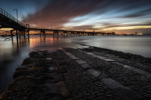 rock ferry river mersey wirral slipway cobbles cobbled merseyside pier longexposure sunrise morning sony a7rii england north west