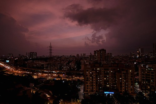 evening dusk pink pinkhour city cityscape urban urbanscape buildings towers horizon sky skyscape mumbai maharashtra india