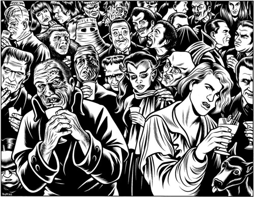 Charles Burns, Ghouls' Night Out, The New Yorker, 1994
