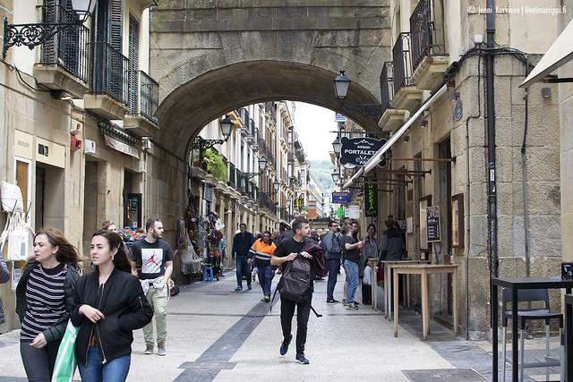 San Sebastiánin vanhaa keskustaa