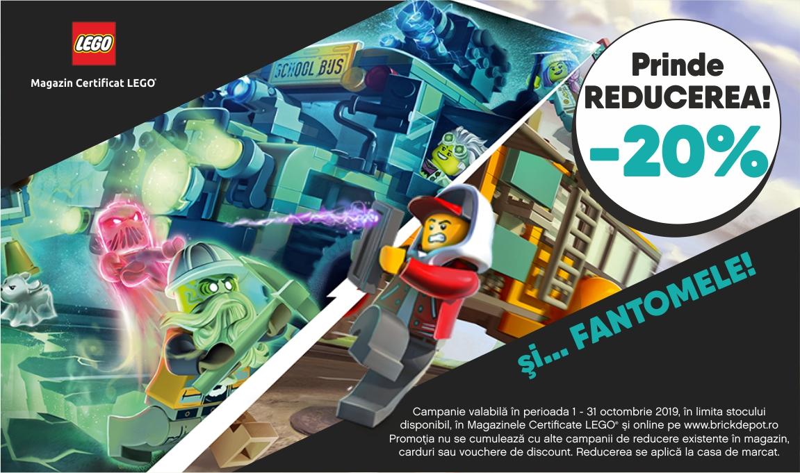 20% reducere la toate seturile LEGO® Hidden Side