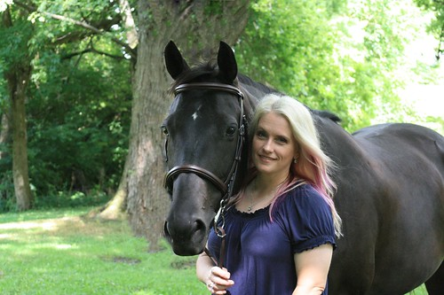 Author Mindee Arnett with her horse. From Write This: Author Mindee Arnett on Writing, Road Maps, and Character Development