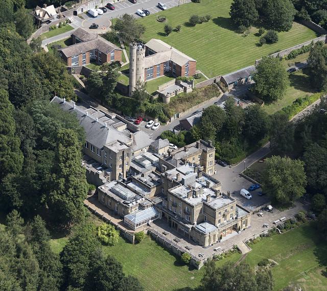 The Wells Salomons Estate in Royal Tunbridge Wells - Kent UK aerial image