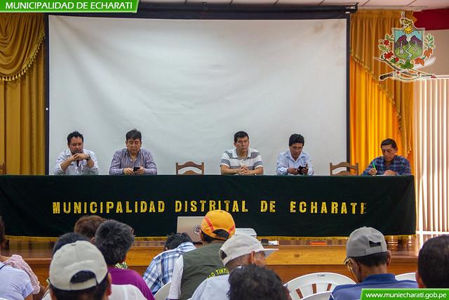 Comités de regantes de Echarati se reúnen con funcionarios de la ANA