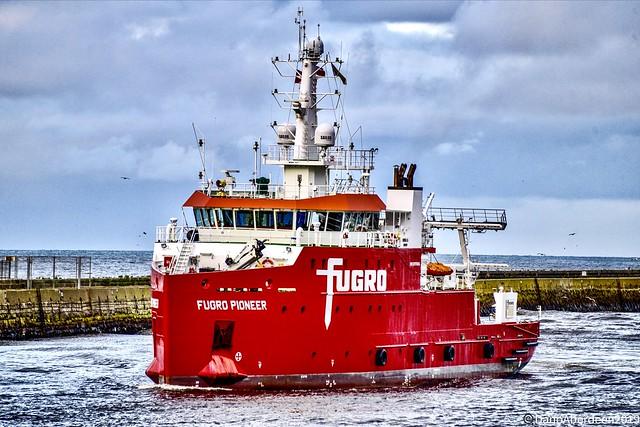 Fugro Pioneer - Aberdeen Harbour Scotland - 30th September 2019.