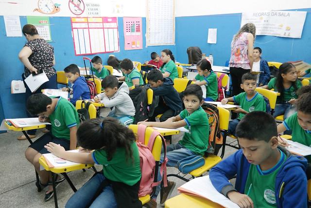 alunos 09.10..19 Semed realiza a 3ª Avaliação de Desempenho do Estudante