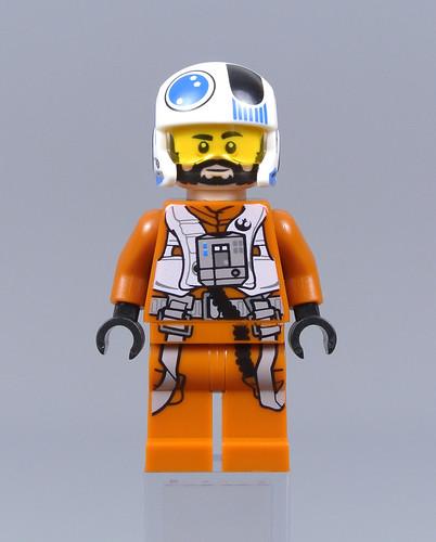 Lego New Dark Orange Minifigure Torso Star Wars Resistance Pilot Flight Suit