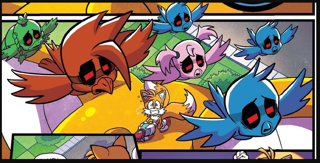IDW Sonic the Hedgehog Issue 21 the last minute part one Tail Flickes Zombots